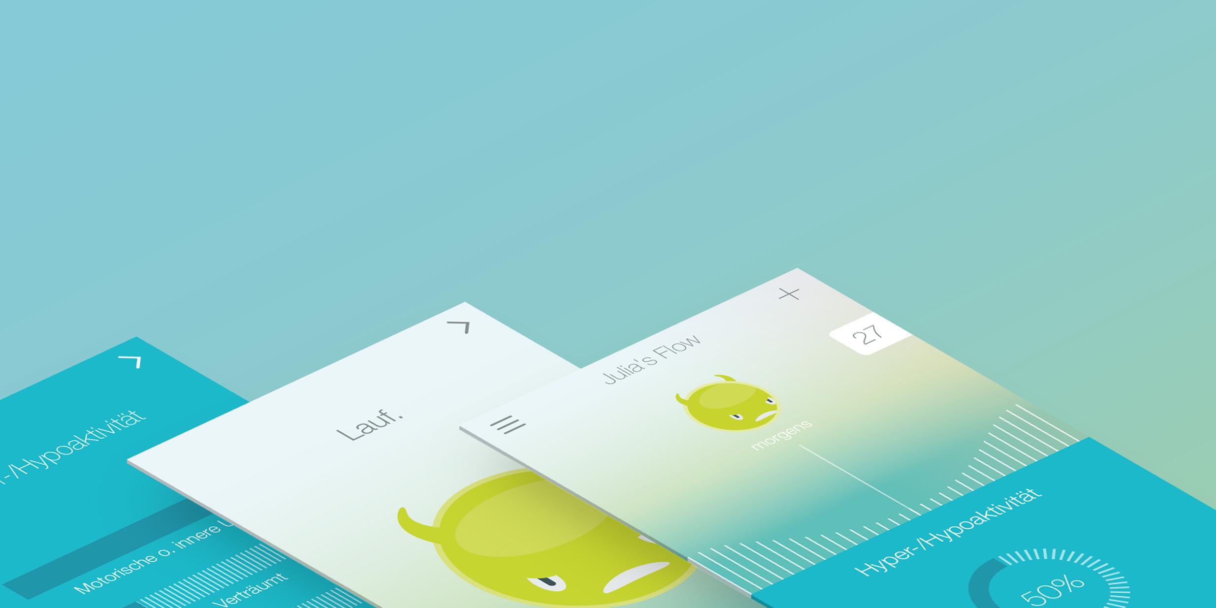MONOKI entwickelte die Idee für eine ADHS App, das zugehörige Konzept, Naming sowie Screendesign und Programmierung.