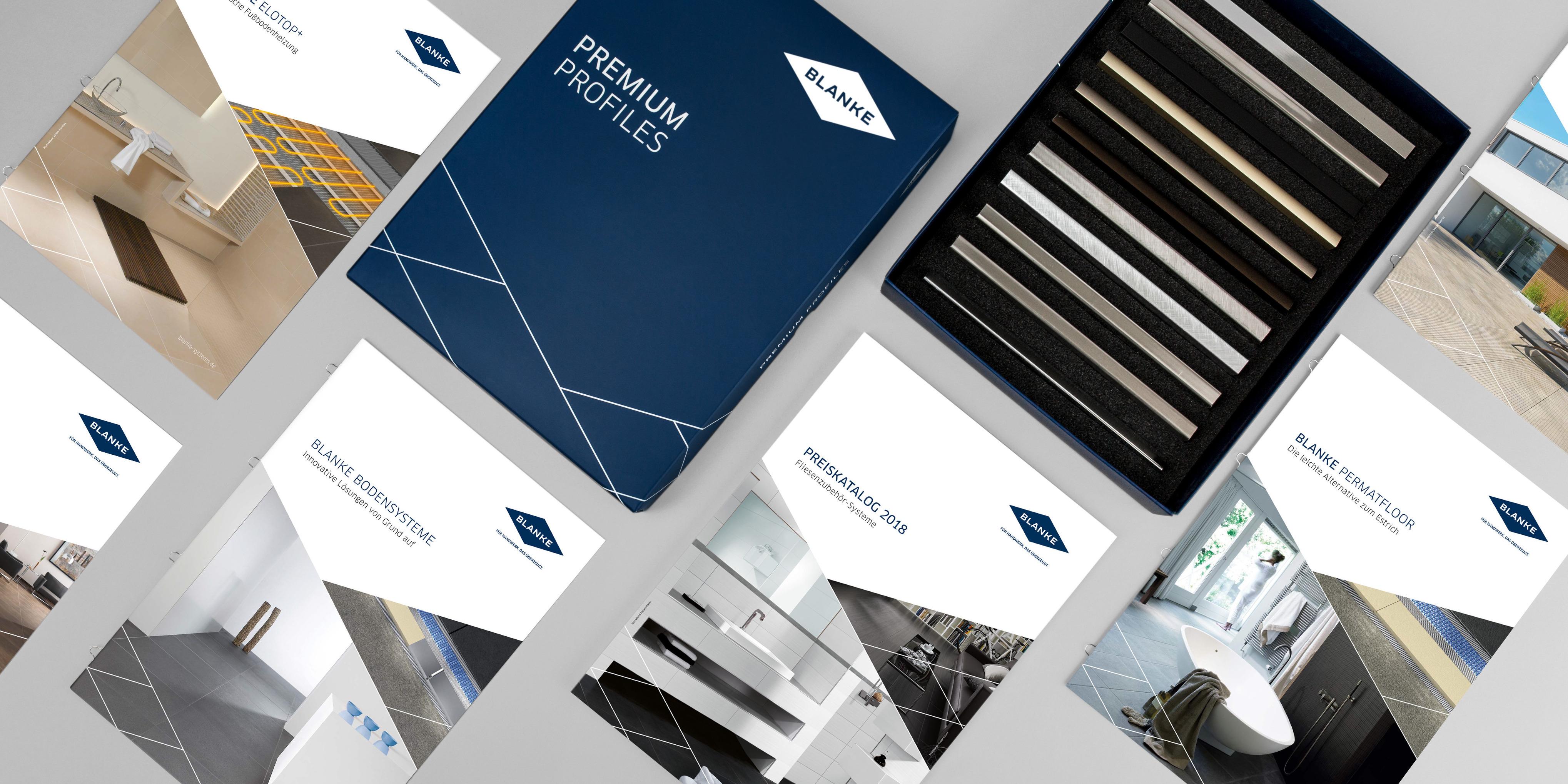 Für den neuen Blanke Unternehmensauftritt wurden verschiedene Corporate Medien entwickelt und ausgestaltet.