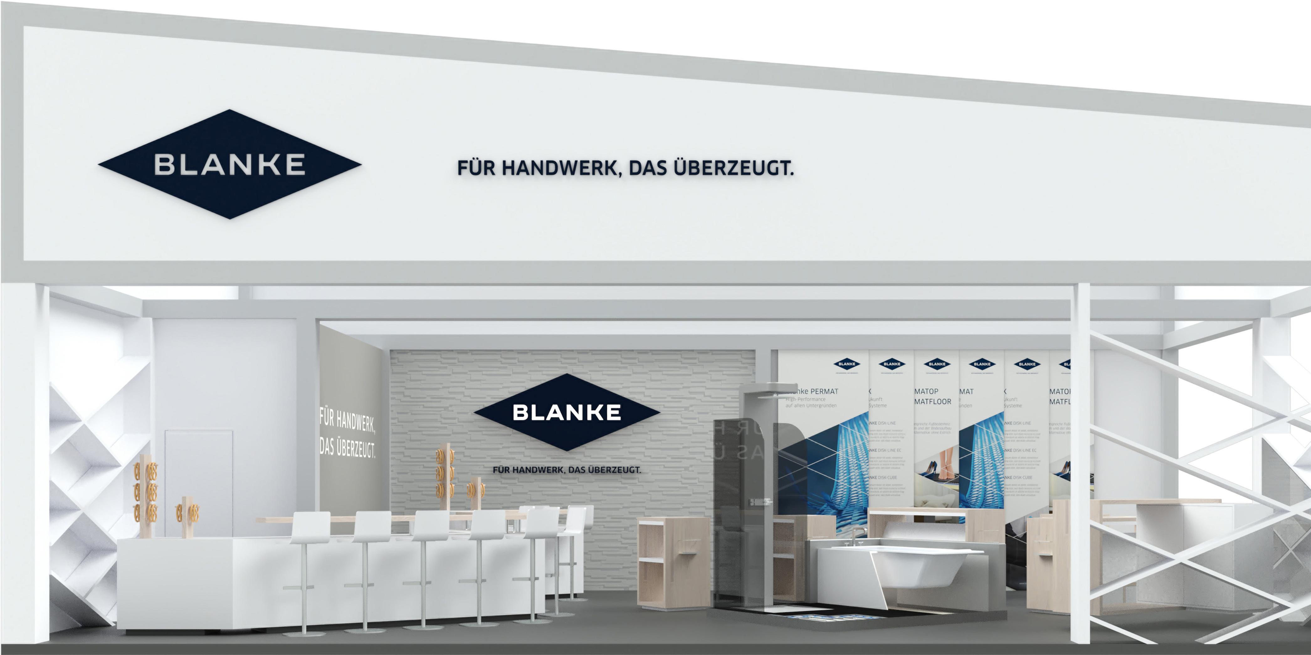 Die von MONOKI entwickelten Corporate Design Elemente sind integraler Teil des Blanke Eventdesigns.