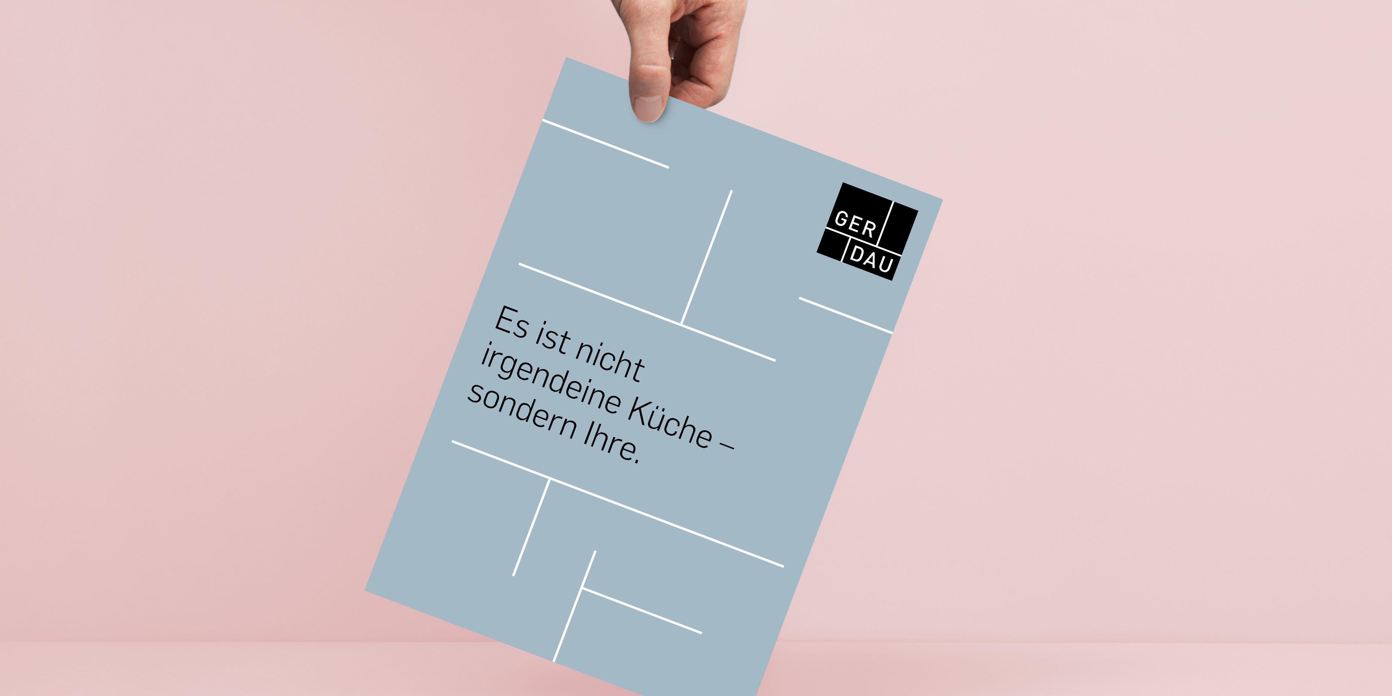 Der neue Imagefolder von GERDAU KÜCHEN präsentiert die neue Marke ganzheitlich in der neuen Brand Identity.