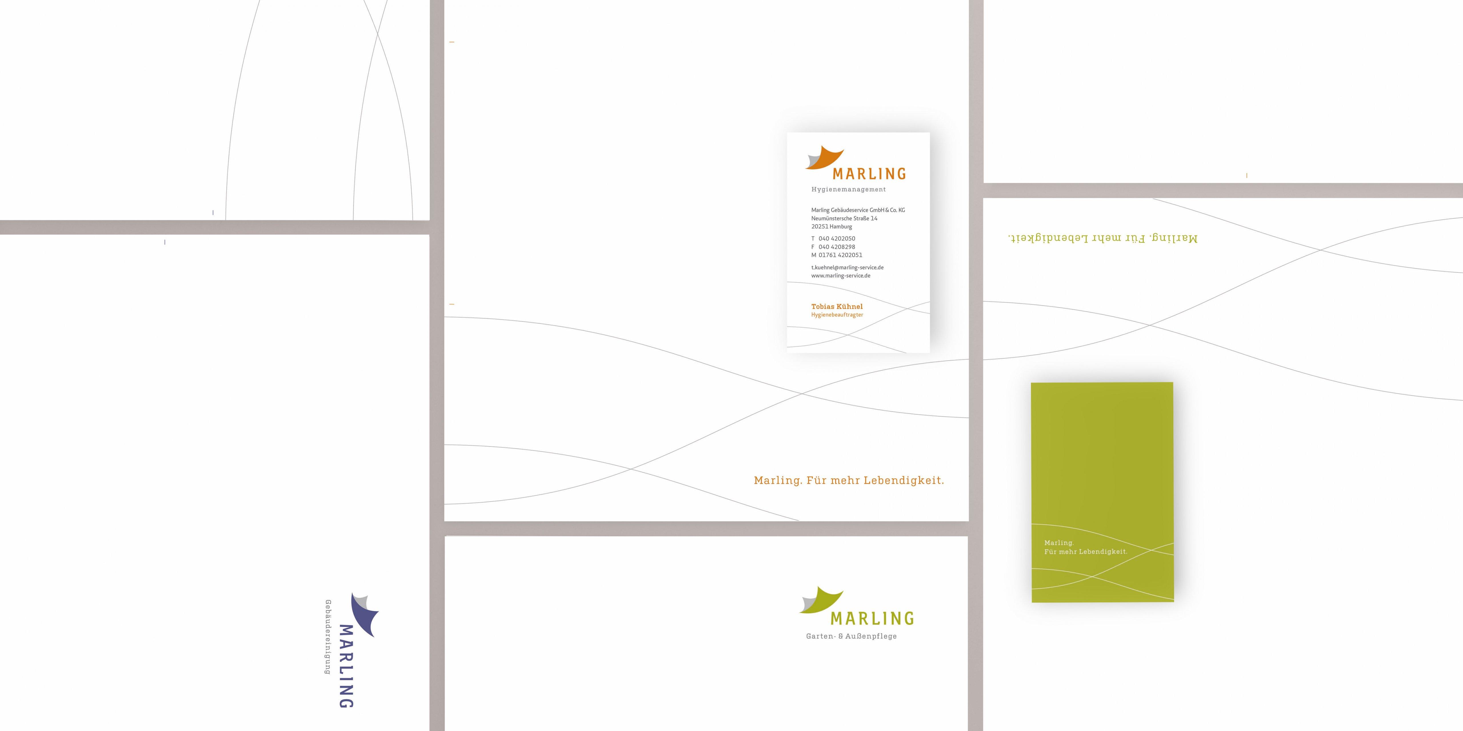 Die Marling Geschäftsausstattung ist so gestaltet, dass sie für alle Geschäftsbereiche eigenständig funktioniert.