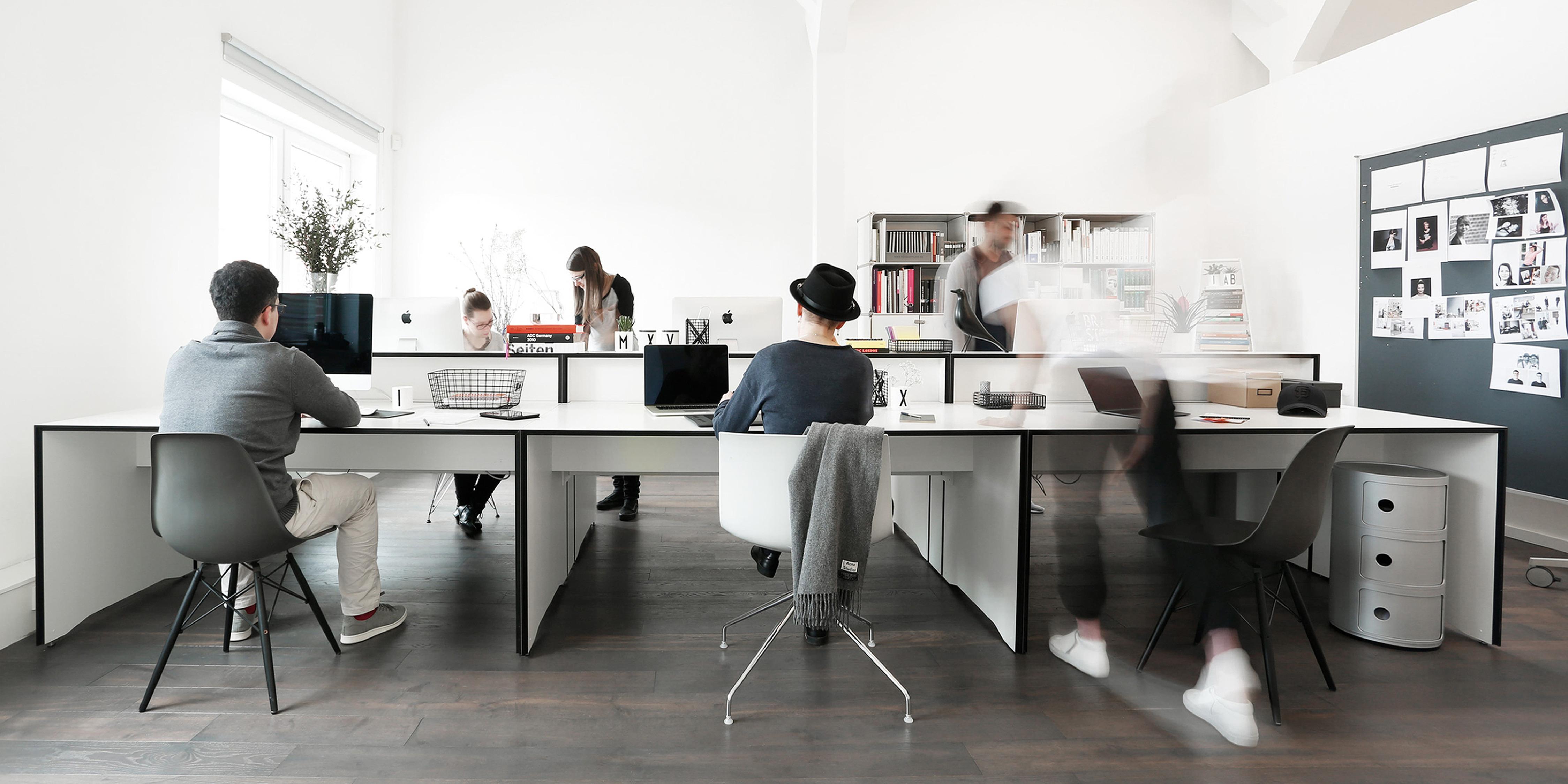 Die MONOKI Agenturräume geben Platz zum Denken und fördern die kreative Entwicklung.