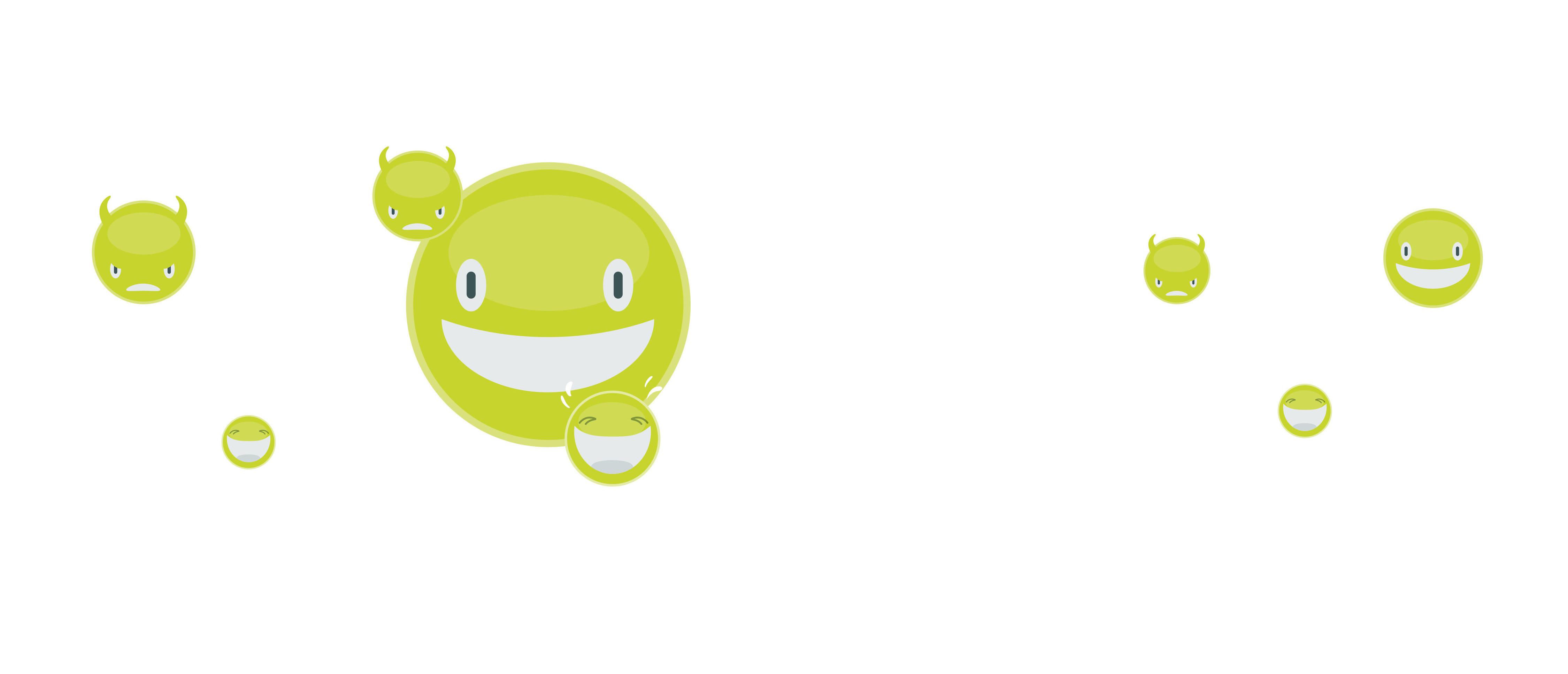 Anhand von individuellen und liebenswürdigen Emoticons kann der App User seine Stimmung dokumentieren.