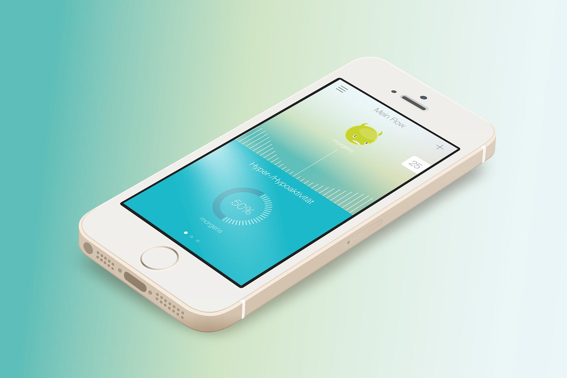 Das übersichtliche und farbenfrohe Screendesign macht dem User Lust auf die kontinuierliche Anwendung der App.
