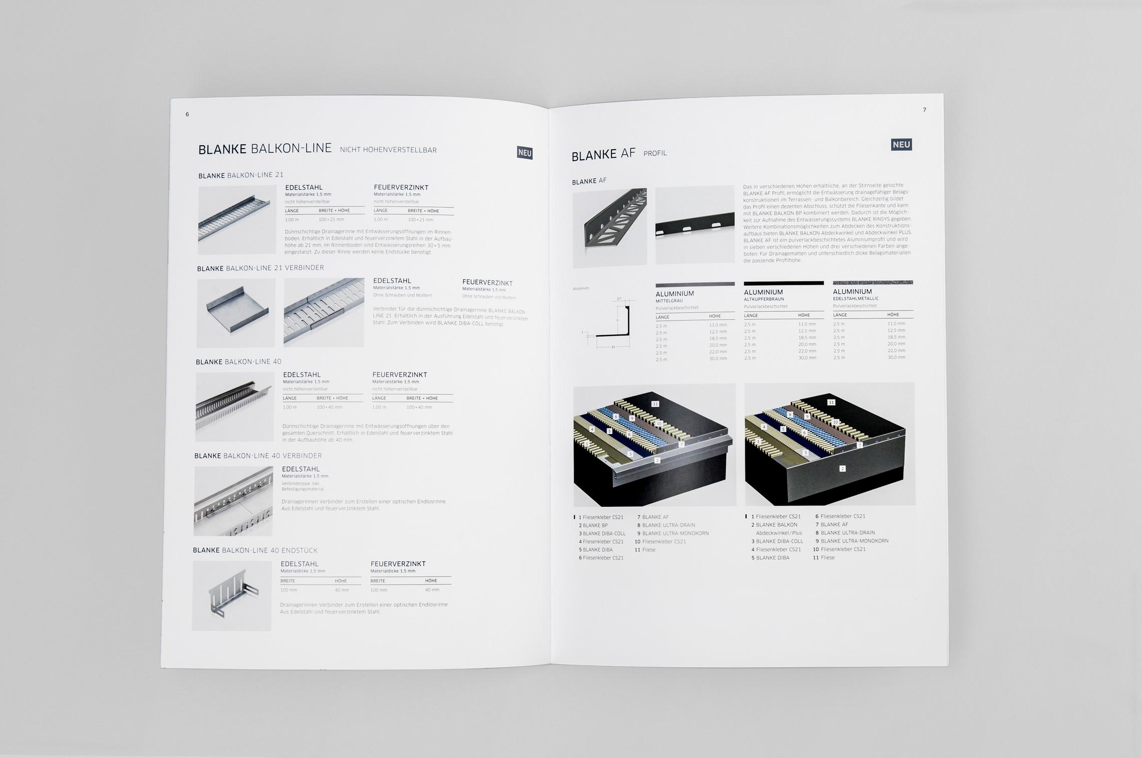 Die Blanke Produktfolder entsprechen den hohen Ansprüchen der Zielgruppe an Design und Qualität.