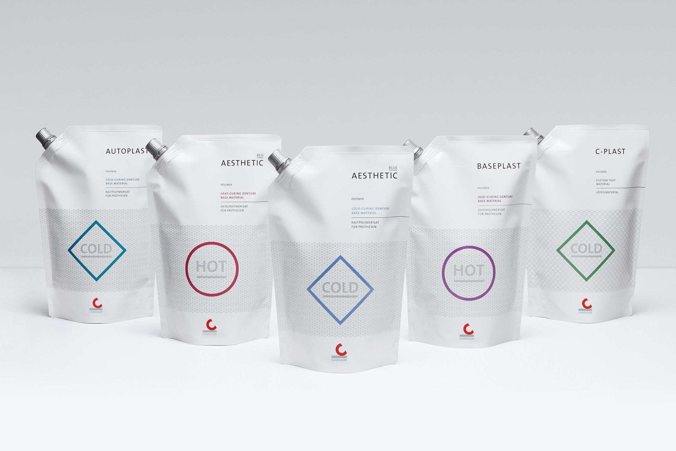 Das übergeordnete Gestaltungskonzept des neuen Verpackungsdesigns wird im Produktportfolio systematisch angewendet.