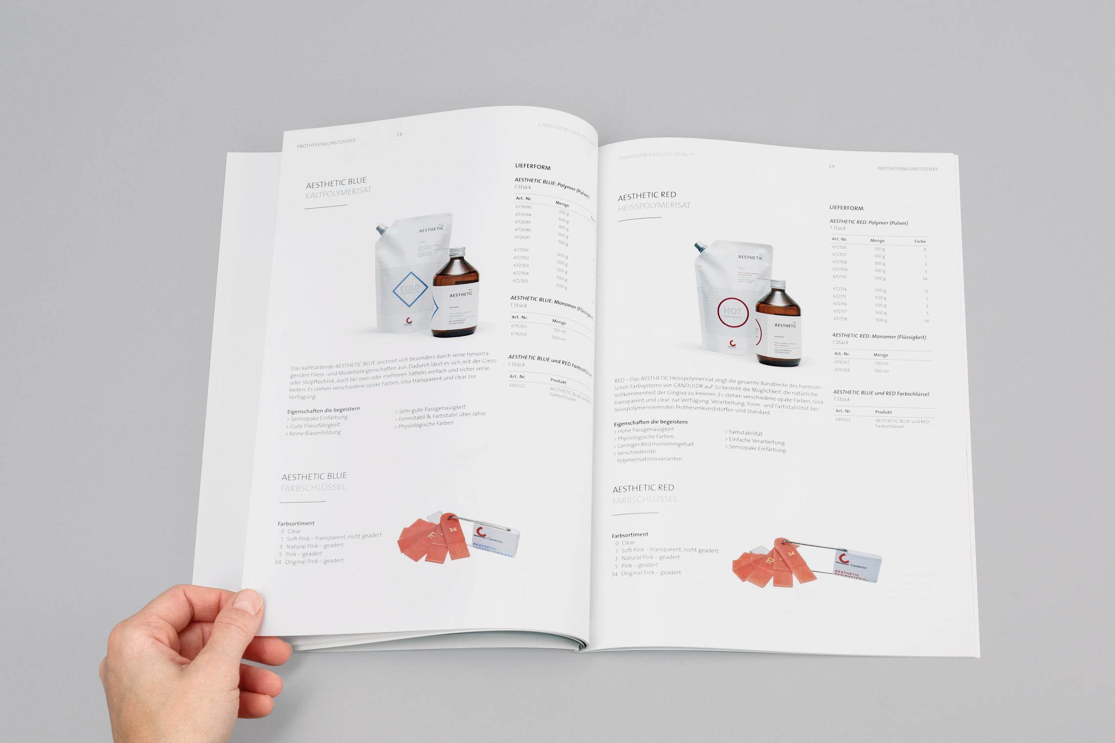 Im neu gestalteten Produktkatalog wird das Portfolio übersichtlich und auf ästhetische Weise dargestellt.