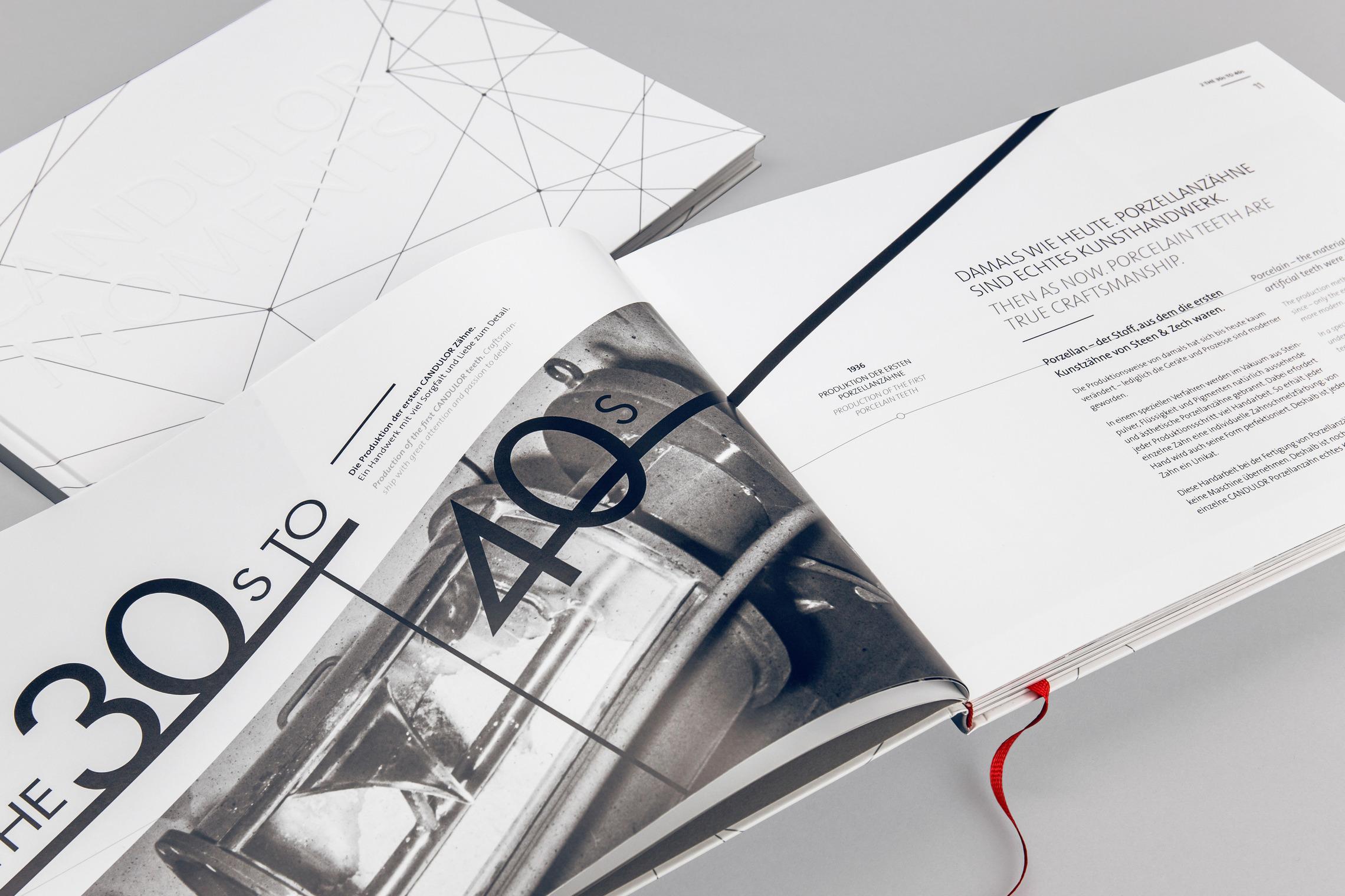 Besondere Papiere und Druckfarben veredeln der Look der CANDULOR Printmedien.