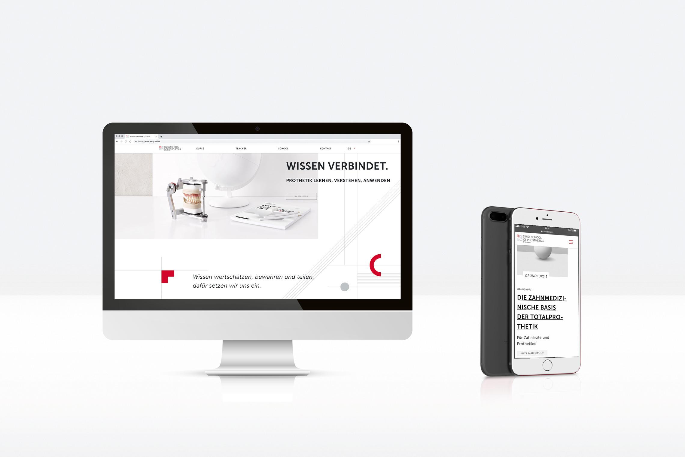 Die Website ist der wichtigste Touchpoint für Lehrer und Teilnehmer der SCHOOL.
