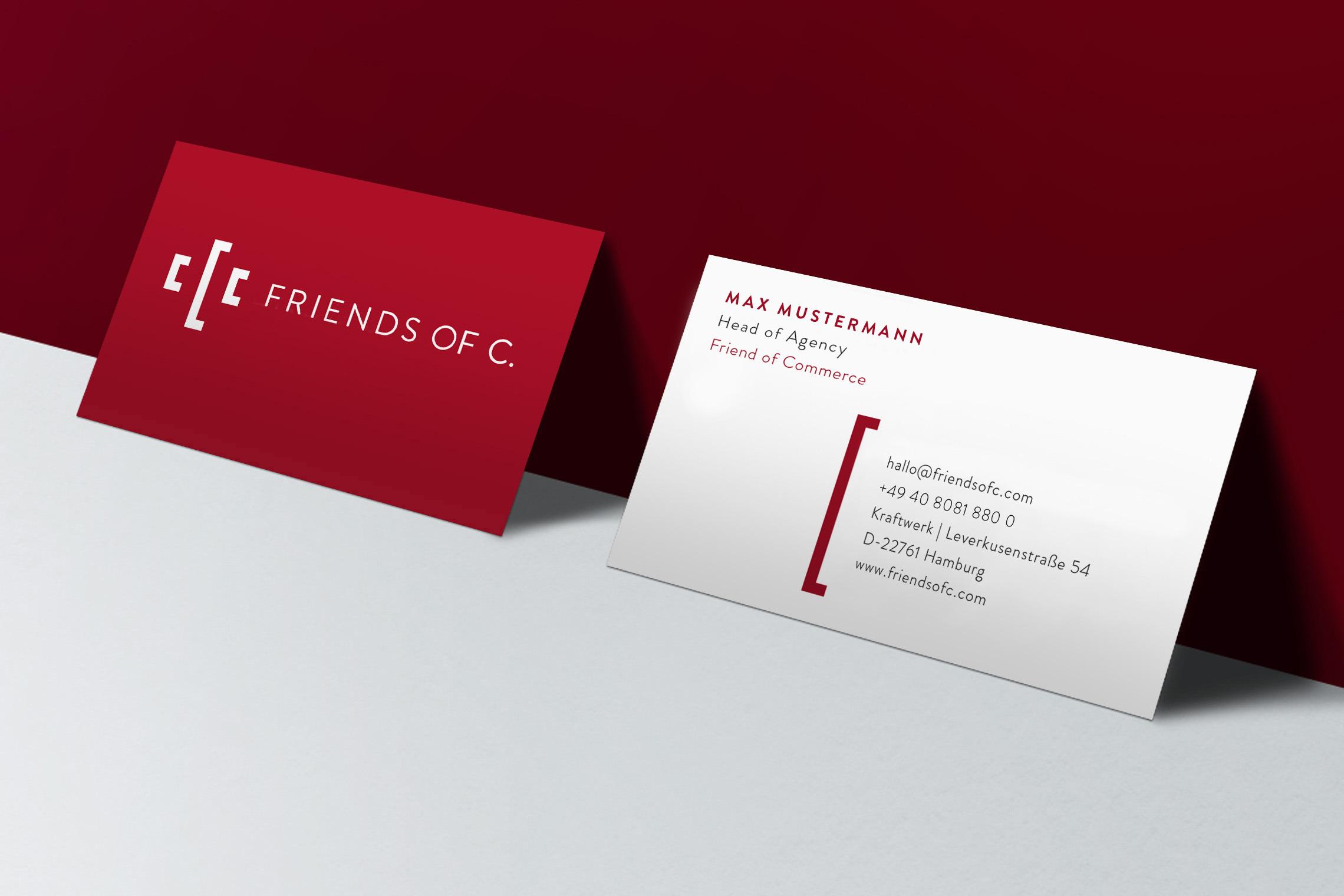 Das Corporate Design ist schlicht und doch kraftvoll, passend zur Mission der Friends of C.