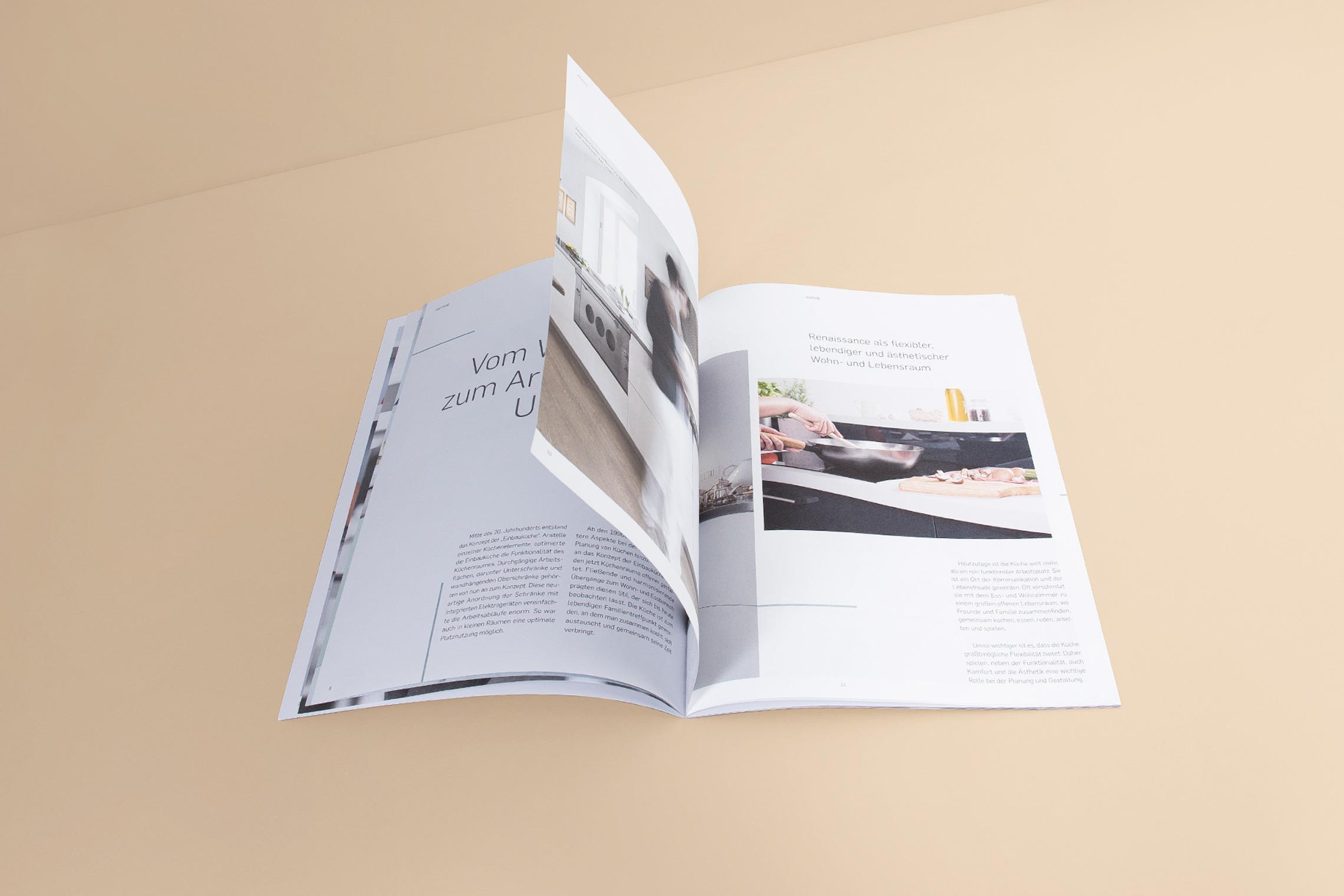 Ein luftiges Design und tolle Fotos geben der Gerdau Imagebroschüre ihren besonderen Look.