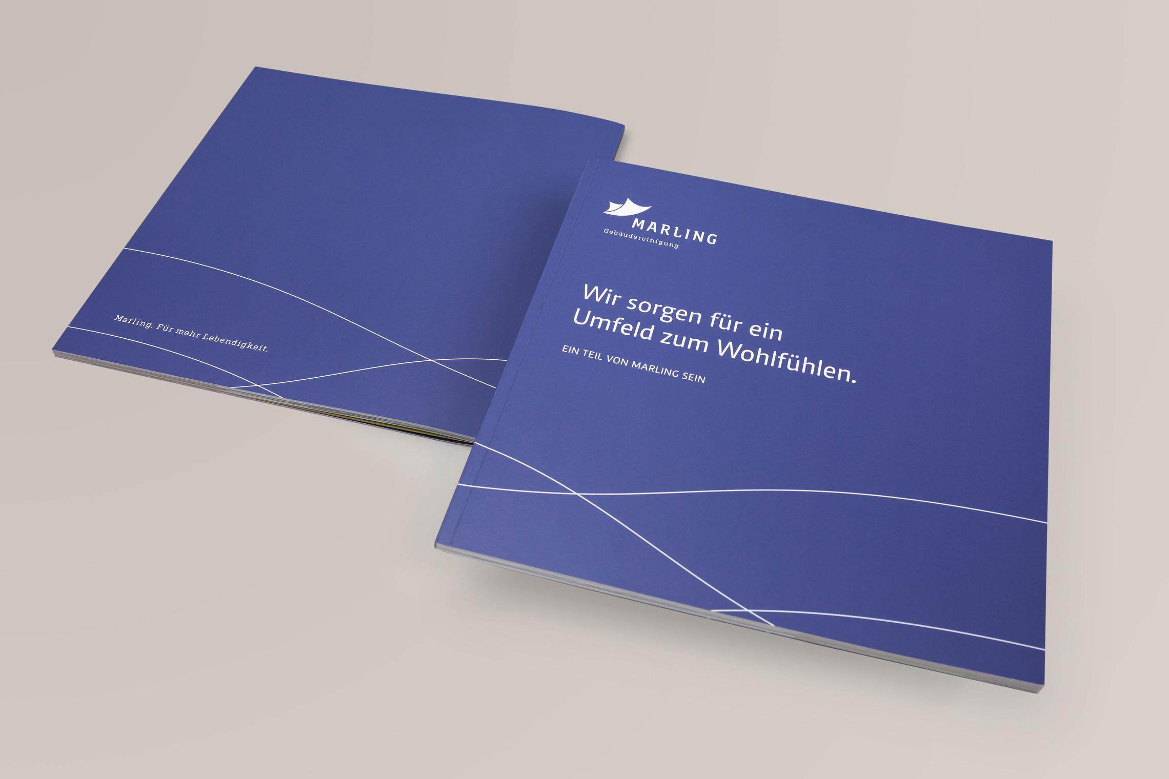 Für künftige Mitarbeiter wurde eine eigeen Broschüre entwickelt, die die MARLING Unternehmenswelt ausführlich portraitiert.