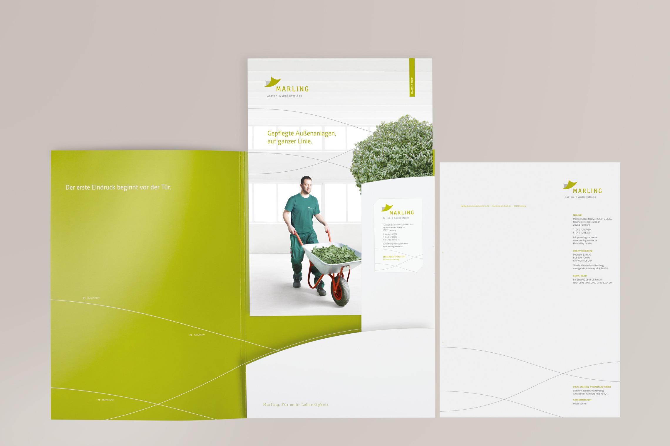 Die Marling Pressemappen unterscheiden sich visuell durch ihr individuelles Farbkonzept.