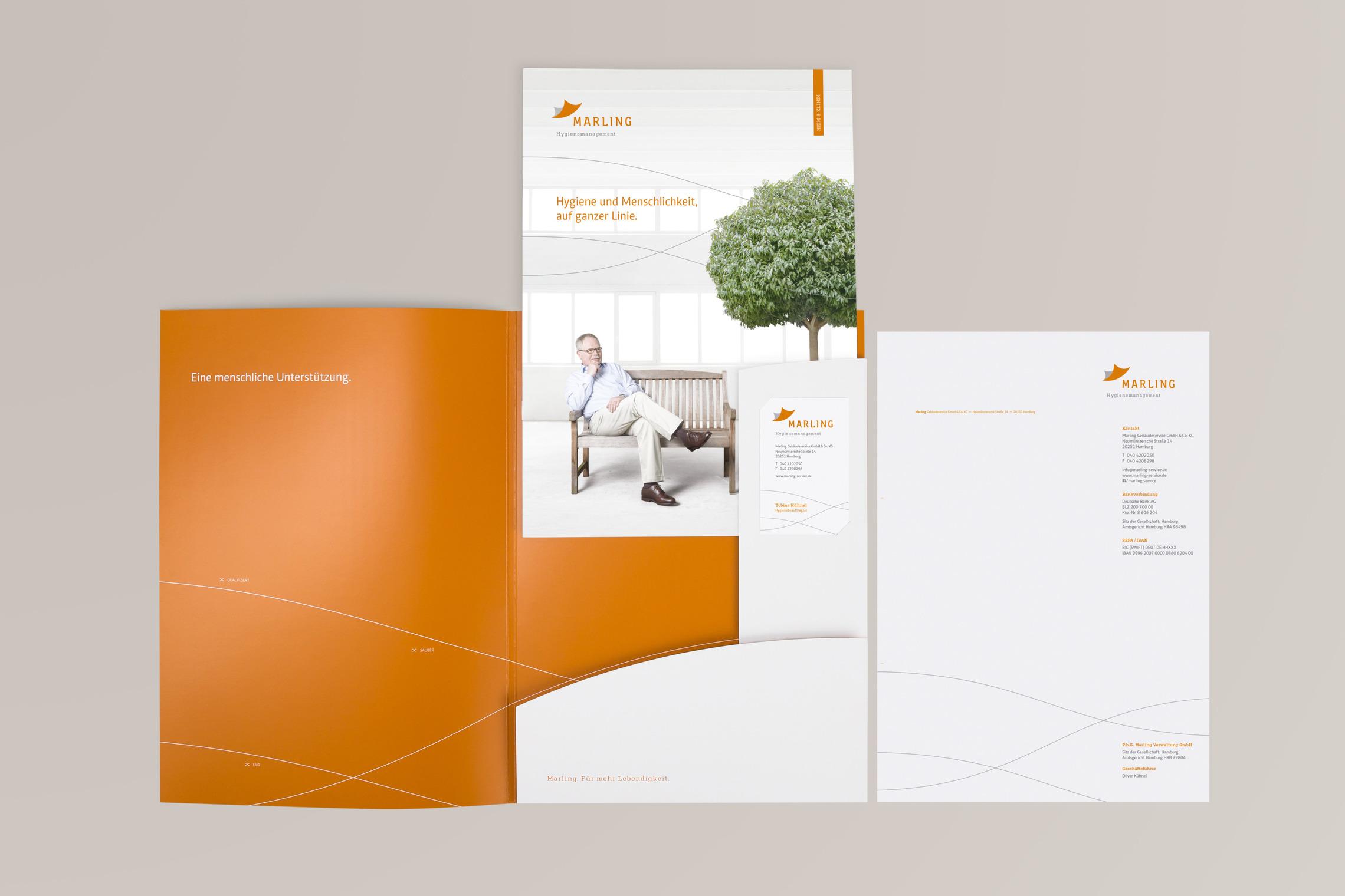Die Konzeption und Umsetzung von Pressemappen war integraler Teil der Maßnahmenplanung für Marling.