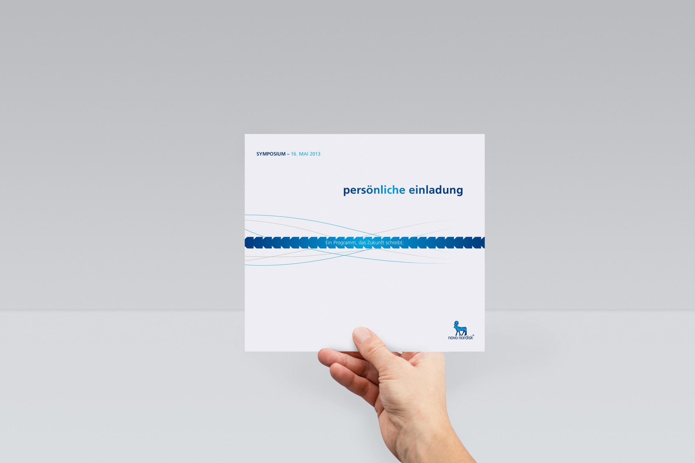 Ob Einladungskarte oder Kampagne, MONOKI entwickelt Ideen und Gestaltung für die Novo Nordisk Brands.