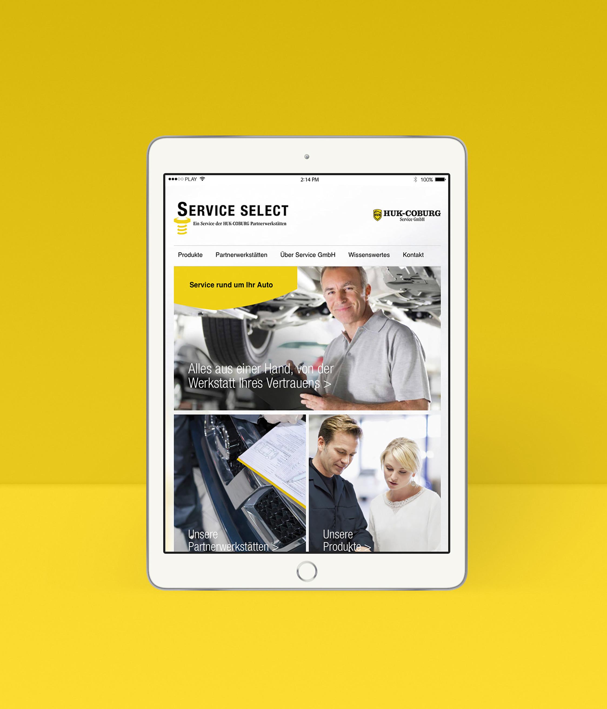 Die Website wurde responsive für Desktop-und Mobileversionen konzipiert.