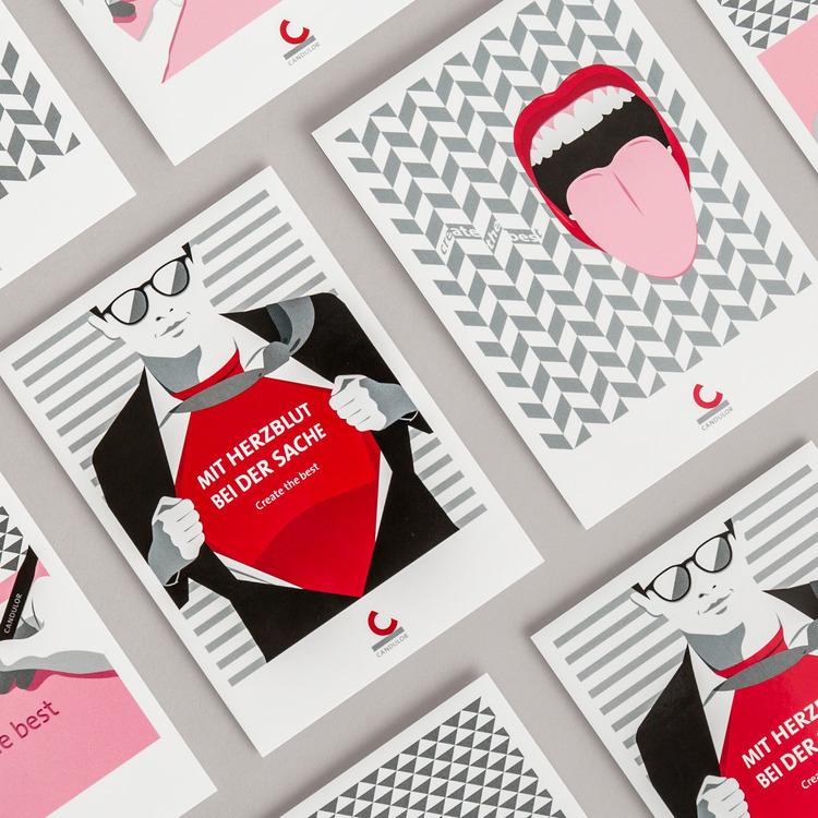 Die individuellen Illustrationen für Fachartikel schärfen das Markenprofil der CANDULOR.