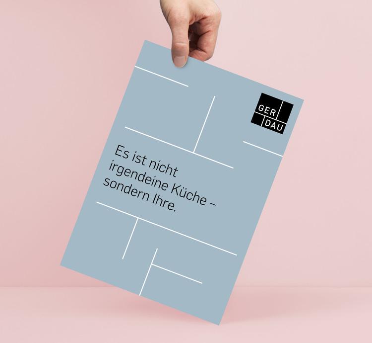 Das neue Corporate Design von Gerdau Küchen gibt der Marke ihr unverwechselbares Gesicht.